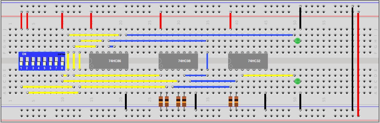 Full Adder 74HCxx Circuit   Sully Station Technologies