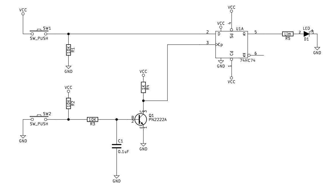 D Flip Flop 74hc74 Circuit Sully Station Technologies Debounce Schematic