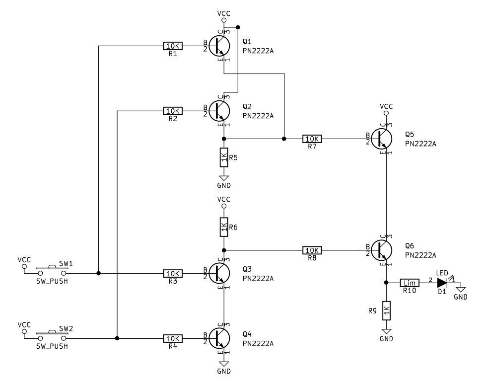 NPN Transistor XOR Gate Circuit Sully Station Technologies